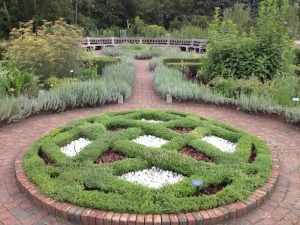 The Herb Knot Garden at the Matthaei Botanical Gardens