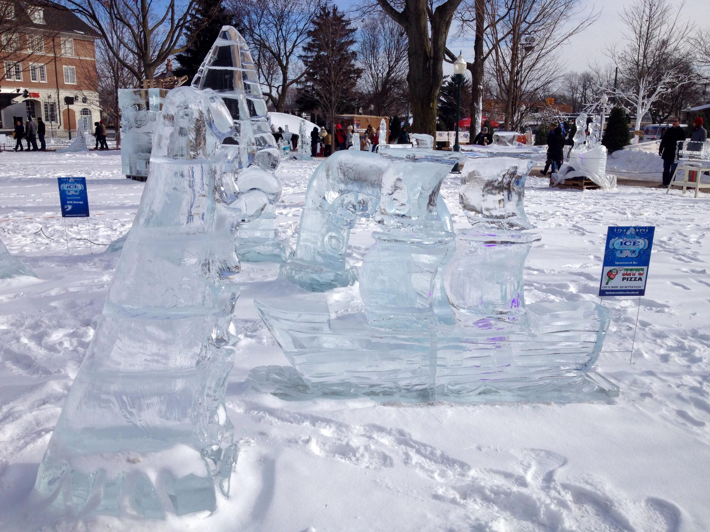 The Ice Sculpture Festival In Plymouth Michigan Smriti